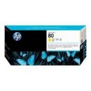 HP 80 Cartouche Jaune C4823A