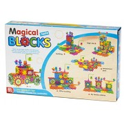AdiChai Multi Coloured Magical Building Blocks, High Rise, Happy Home , Cars,Amusement Park,Office Building, Construction Toys Set for Kids