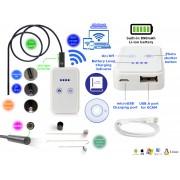 NTR ECAM23WIFI Vízálló endoszkóp kamera 1280x720 HD 2MP 9mm átmérő 6LED 30m WiFi + 2m kábel