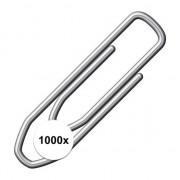 Geen Papier clip 1000 stuks metaal 21 mm