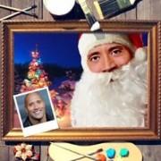 Новогодний портрет по фото *Дед Мороз*