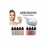 Aeroblend Airbrush Maquillaje Personal Starter Kit - Sistema De Maquillaje Profesional Cosmético Air