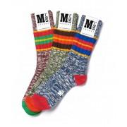 MrD London [3 Packs] Chunky Block Stripe Socks B19-009
