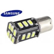 BA15Y fék lámpa világítás, 18 led, 2,5W, 200 lumen, Samsung chip, piros