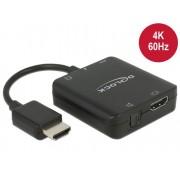 DeLock HDMI Audio Extractor 4K 60 Hz compact 63276