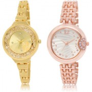 The Shopoholic Gold Silver Combo Latest Collection Fancy And Attractive Gold And Silver Dial Analog Watch For Girls Girls Watches Stylish