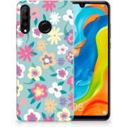Huawei P30 Lite TPU Hoesje Design Flower Power