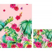 Duni Hawaii thema tafeldecoratie set tafelkleed/servetten