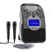 Auna ScreenStar Караоке система с Камера, CD,USB, SD,MP3 включени2 X микрофона, 3 X CDG (KS1-539black+CD)