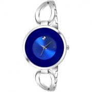 IIK Collection Blue Silver Metal Chain Strap Fogg Latest Designing Stylist Looking Professional Analog Watch For Women