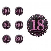 Liragram Globo de Pink Birthday con número de 45 cm - Número 70