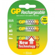 Акумулаторна Батерия GP R03 AAA 1000mAh NiMH 3+1 бр. в опаковка GP - GP-BR-R03-1000-3plus1