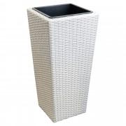 [neu.haus]® Jardinera (LxAxA) 40x40x78cm maceta blanca
