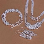 Set bilute placat argint colier, bratara si cercei