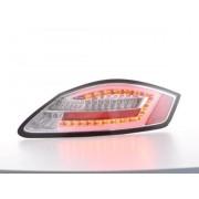FK-Automotive fanali posteriori a LED con lightbar Porsche Boxster tipo 987 anno di costr. 04-09 cromati