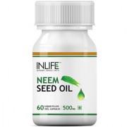 INLIFE Neem Seed Oil Supplement 500mg (60 Vegetarian Capsules)