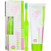 Herbadent Kids pasta de dentes para crianças com flúor + escova