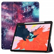 Pattern Printing Tri-fold Stand Leather Smart Cover for iPad Pro 12.9-inch (2018) - Galaxy