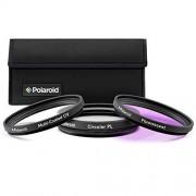 Polaroid PL-3FIL67 Optics 67mm 3-Piece Filter Set (UV, CPL, FLD) (Black)