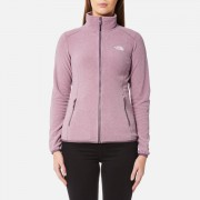 The North Face Women's 100 Glacier Full Zip Fleece Jumper - Black Plum Stripe - L - Purple
