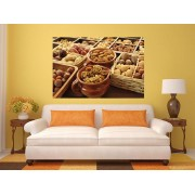 Tablou grand canvas varieties of nuts - cod Z14