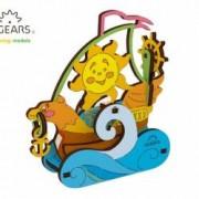 Barca cu panza Puzzle de Colorat pentru Copii