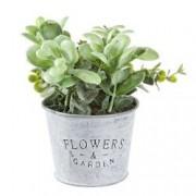 Ghiveci cu flori artificiale verde Amanda 10x10x18h