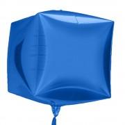 Balon folie cubez 3D albastru - 45cm, Northstar Balloons 01013