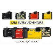 Nikon – COOLPIX W300 Sensor CMOS 16 MPX Zoom Optische 5 x Video 4 K WLAN Bluetooth + Rucksack – orange