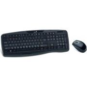 Tipkovnica + miš Genius KB-8000X, bežična, crna, USB