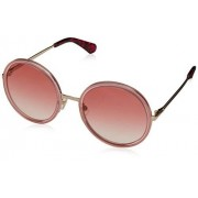 Kate Spade Women's Round Sunglasses, Pink Gold, 54 mm