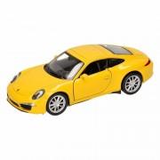 Porsche Speelgoed Porsche 911 Carrera S geel Welly autootje 1:36