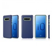 WalvoDesign 3-in-1 Hybrid Protective Phone Case for Samsung Galaxy S10 / S10 Plus, S10e Lite Single Samsung S10 Navy Blue / Green (TCASAMS10-DMX-GR)