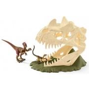 Schleich Stor Skallfälla med Velociraptor 42348