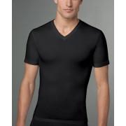 SPANX For Men Cotton Compression V Neck Short Sleeved T Shirt Black 610