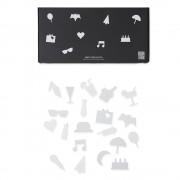 Design Letters Party Icons till Message Board (20 del) , Vit