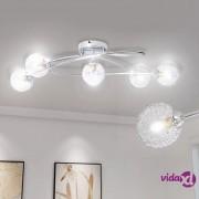 vidaXL Stropna svjetiljka s lusterima od žice, 5 G9 žarulja