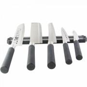 Комплект 5 ножа Riwendell GS 06101, Магнитна поставка, Черен