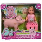 Simba Akcesoria dla lalek lalki Simba Evi z ciężarną świnką 12 cm