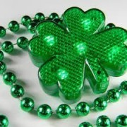 Lighted String Shamrock Necklace -3 different light modes St. Patricks Day Decorations by St Patrick