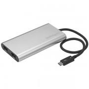 Adaptador Thunderbolt Startech 3 a HDMI doble 4K 30HZ externo plata, TB32HD2