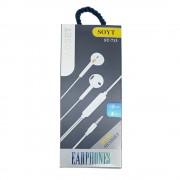 Casti audio cu microfon Soyt ST-713, albe