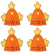 Imported 4pcs Cute Chick Design Easter Egg Covers Holder Decoration Ornament Orange