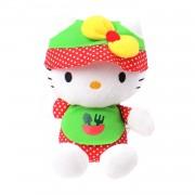 Jemini pluchen knuffel Hello Kitty tuinman 15 cm groen/rood