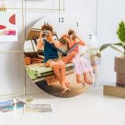 smartphoto Uhr aus Acrylglas rund
