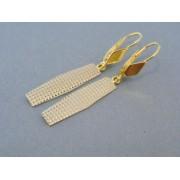 Zlaté dámske náušnice visiace dvojfarebné zlato DA309V