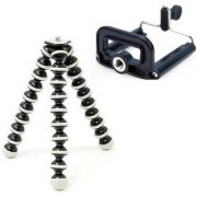6Inch Long Portable Adjustable Mini Flexible Octopus Mobile Camera Tripod With Universal Mobile Clip Holder Bracket
