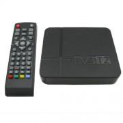Mini Terrestrial Receiver HD DVB-T2 Set Top Box Support USB / HDMI / MPEG4 /H.264(Black)