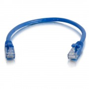 C2G 0.5m Cat5e Booted Unshielded (UTP) Network Patch Cable - Blue