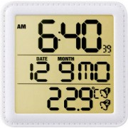 Ceas desteptator radiocomandat, alb, Eurochron EFW135